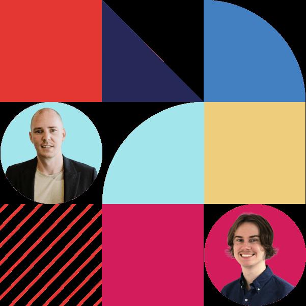 Digital Marketing Colourful geometric shapes with LEP Team